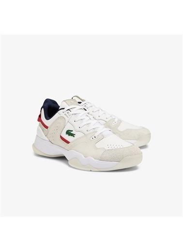 Lacoste Lacoste T-Point 0721 1 G Sma Erkek Bej - Kırmızı Sneaker Renkli